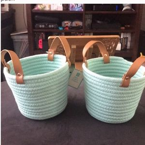 Mint Green Coiled Rope Baskets 🧺 2 pack